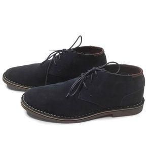 Kenneth Cole Reaction Mens Suede Chukka Boots Blue